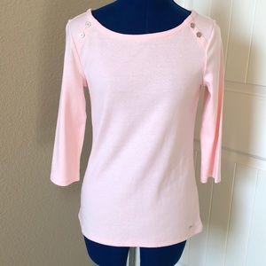 NWT-Tommy Hilfiger Pale Pink Cotton Shirt-Size S